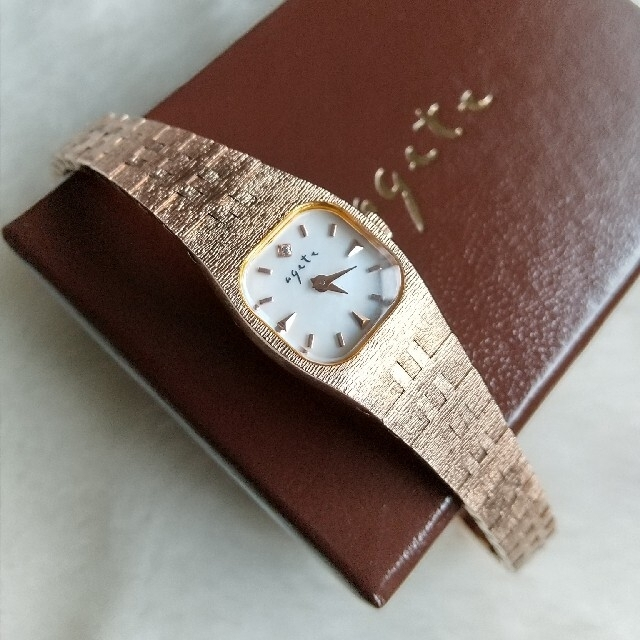 agete(アガット)のアガット 腕時計 アンティーク レディースシルバーGP ジュエリークォーツ レディースのファッション小物(腕時計)の商品写真