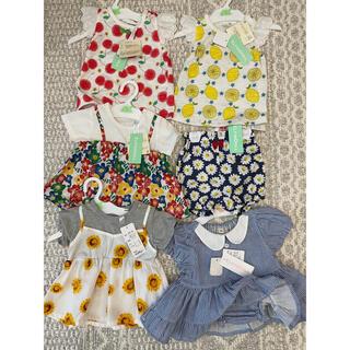 ニシマツヤ(西松屋)の西松屋 ベビー服 60cm 70cm 新品未使用(Tシャツ)