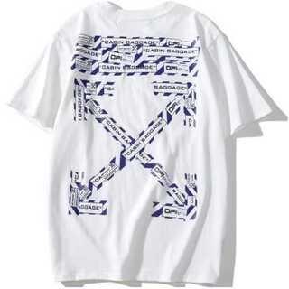 テープ メンズ レディース Tシャツ オーバーサイズ 白  ペアルック(Tシャツ/カットソー(半袖/袖なし))