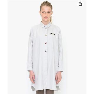 グラニフ(Design Tshirts Store graniph)のグラニフ からすのパンやさん かこさとし ワンピース 長袖 シャツ レディース(ひざ丈ワンピース)