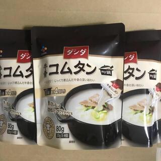 ダシダ 牛骨コムタン 4個入×3袋(調味料)