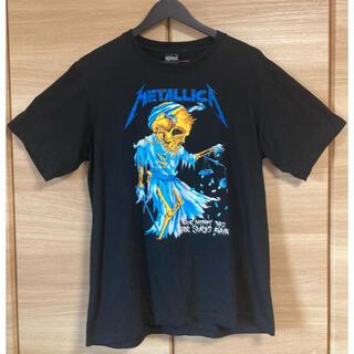 アゲインスト(AGAINST)のMETALLICA  メタリカ 両面ビッグプリントスカル 黒 XL バンT(Tシャツ/カットソー(半袖/袖なし))