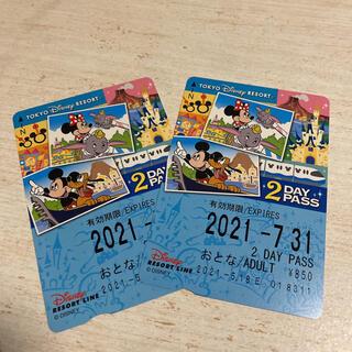 ディズニー(Disney)のディズニー リゾートライン 2day(鉄道乗車券)