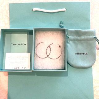 Tiffany & Co. - Tiffany Tワイヤー シルバー フープピアス