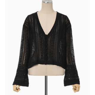 mame - Curtain Lace Knitted Cardigan
