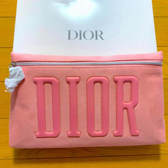 Dior(ディオール)のDior ポーチ ピンク クラッチ スエード調 レディースのファッション小物(ポーチ)の商品写真