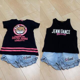 ジェニィ(JENNI)のJENNI♡3点まとめ売り♡夏服♡110(Tシャツ/カットソー)