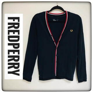 FRED PERRY - 【美品】FRED PERRY(フレッドペリー)★長袖カーディガン★紺×金S★
