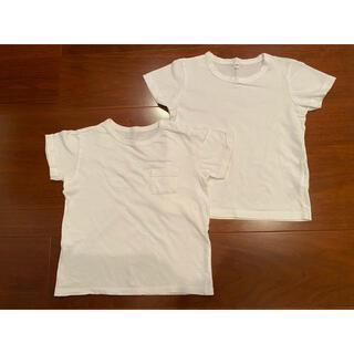 ムジルシリョウヒン(MUJI (無印良品))のTシャツ 白 無印良品 UNIQLO 2枚セット(Tシャツ/カットソー)