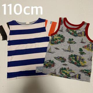 グローバルワーク(GLOBAL WORK)の【110cm】夏物 Tシャツ&タンクトップ セット(Tシャツ/カットソー)