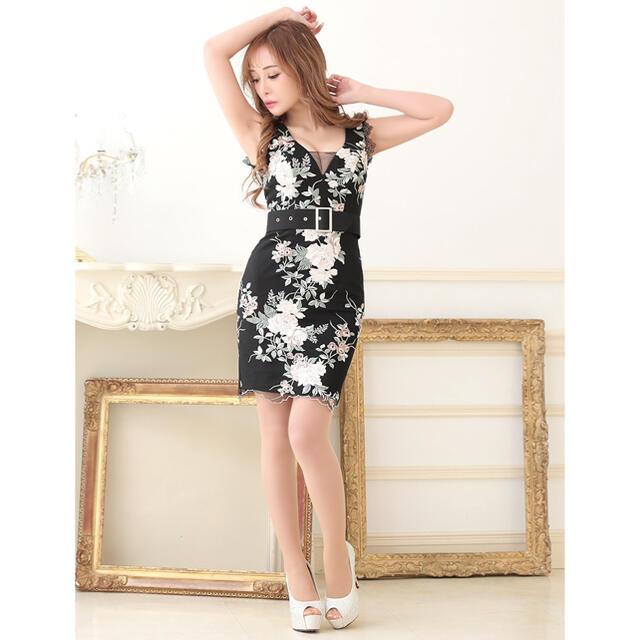 Andy(アンディ)の2771*ローズ刺繍/バストシアー/ノースリーブドレス レディースのフォーマル/ドレス(ミニドレス)の商品写真