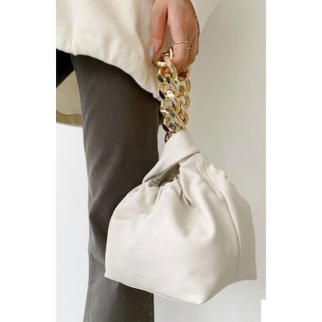 L'Appartement DEUXIEME CLASSE(アパルトモンドゥーズィエムクラス)の美品【DEMELLIER LONDON】hand bag with chain レディースのバッグ(ハンドバッグ)の商品写真