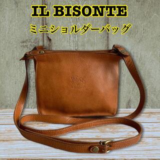 IL BISONTE - 【定番人気】IL BISONTE イルビゾンテ ミニショルダーバッグ ブラウン
