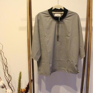 ビューティアンドユースユナイテッドアローズ(BEAUTY&YOUTH UNITED ARROWS)のLui's ストライプ ハーフジップ プルオーバーシャツ 古着(Tシャツ/カットソー(七分/長袖))