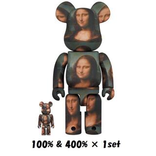メディコムトイ(MEDICOM TOY)のBE@RBRICK LEONARD Mona Lisa 100% & 400%(その他)