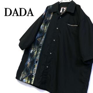 ダダ(DADA)の美品 古着 DADA デザインシャツ オープンカラー メンズ2XL(シャツ)