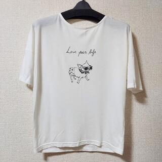 nano・universe - Jines チワワ 白Tシャツ UNIQLO ZARA Loveless 系