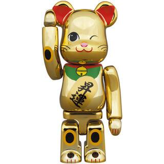 メディコムトイ(MEDICOM TOY)の未開封 BE@RBRICK 招き猫 昇運 弐 金メッキ 100%(その他)