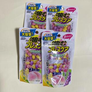 噛むブレスケア アソート(レモン・ピーチ・グレープ味)100粒×4 (口臭防止/エチケット用品)