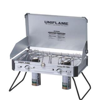 ユニフレーム(UNIFLAME)のユニフレーム ツインバーナー US-1900 2バーナー 新品未使用(ストーブ/コンロ)