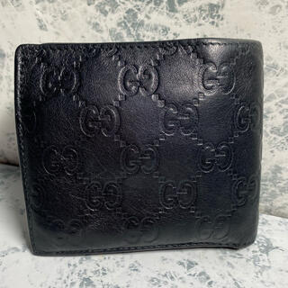 Gucci - 正規品/良品/GUCCI/グッチ/シマレザー/二つ折り財布