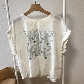 スタディオクリップ(STUDIO CLIP)のアサガオ刺繍半袖ブラウス(シャツ/ブラウス(半袖/袖なし))