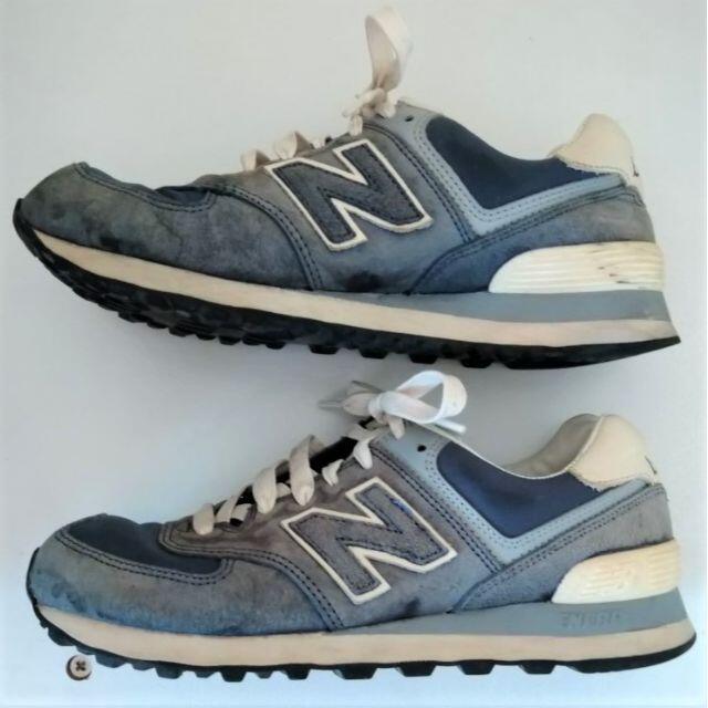 New Balance(ニューバランス)のニューバランス 574 スニーカー  23.5cm ブルー/グレイ レディースの靴/シューズ(スニーカー)の商品写真