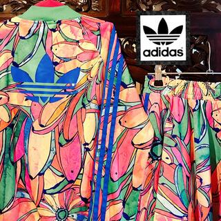 adidas - アディダス 希少 花柄 ジャージ セットアップ 上下 ジャケット スカート
