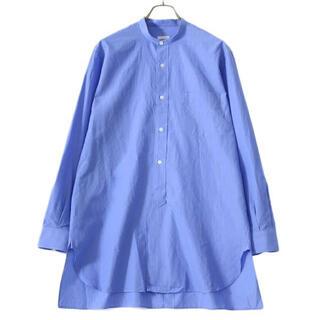 コモリ(COMOLI)の21ss comoli バンドカラーシャツ サックス コモリ(シャツ)