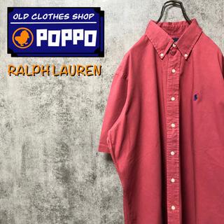 ラルフローレン(Ralph Lauren)のラルフローレン☆ワンポイント刺繍ロゴ半袖チノボタンダウンシャツ 90s(シャツ)