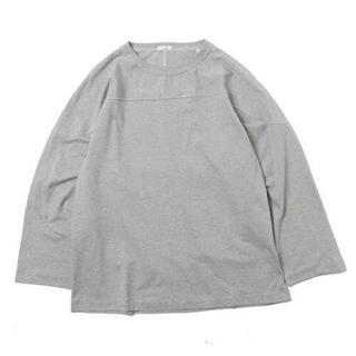 コモリ(COMOLI)の20aw comoli フットボールTシャツ グレー コモリ(Tシャツ/カットソー(七分/長袖))
