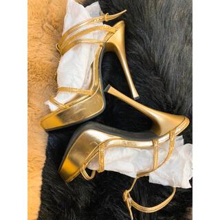 エスペランサ(ESPERANZA)の美脚効果抜群!高いヒールがお好きな方に!ゴールドハイヒールサンダル(サンダル)