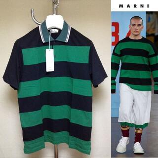 マルニ(Marni)の新品 46 19ss marni ボーダーポロ シャツ 8818(Tシャツ/カットソー(半袖/袖なし))