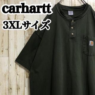 カーハート(carhartt)の【カーハート】【3XL】【ワンポイント】【ロゴ刺繍】【胸ポケット】【Tシャツ】(Tシャツ/カットソー(半袖/袖なし))