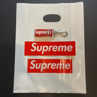 シュプリーム(Supreme)のシュプリーム supreme leather key loop レッド 検品済(キーホルダー)