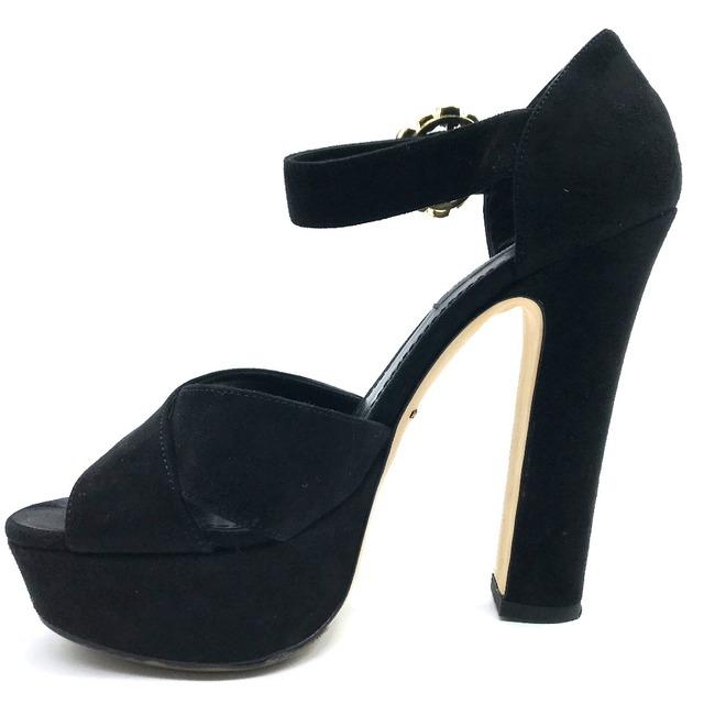 DOLCE&GABBANA(ドルチェアンドガッバーナ)のドルチェアンドガッバーナ ドルガバ ハイヒール フロントクロス サンダル 靴 レディースの靴/シューズ(サンダル)の商品写真