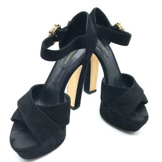 DOLCE&GABBANA - ドルチェアンドガッバーナ ドルガバ ハイヒール フロントクロス サンダル 靴