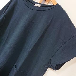サマンサモスモス(SM2)のSM2  前ポケットTシャツ サマンサモスモス ブラック(Tシャツ(半袖/袖なし))