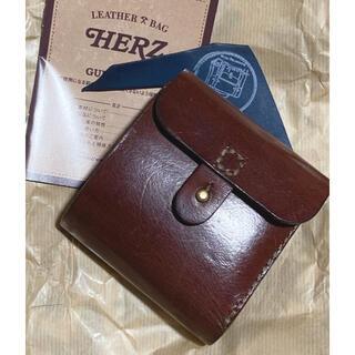 HERZ - HERZ ヘルツ ギボシ留め 二つ折り財布 レザー コンパクトウォレット