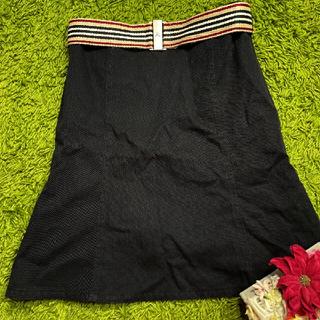 バーバリーブルーレーベル ベルト付きレディスカート 1985