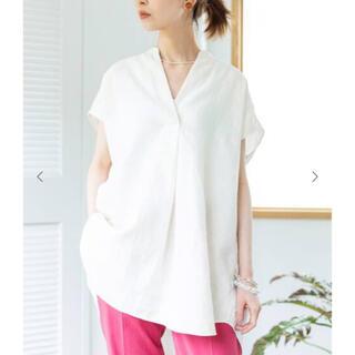 イエナ(IENA)のIENA リネンノースリーブスキッパーシャツ(シャツ/ブラウス(半袖/袖なし))