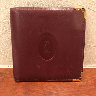 Cartier カルティエ 2つ折り財布 ミニウォレット レディース used