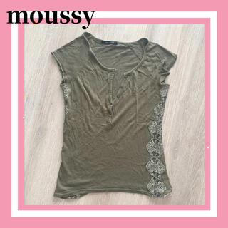 マウジー(moussy)のmoussy マウジー 半袖 カットソー Tシャツ レース レディース(カットソー(半袖/袖なし))