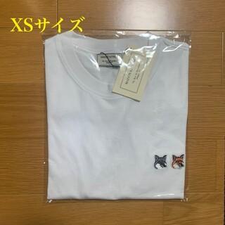 メゾンキツネ(MAISON KITSUNE')のメゾンキツネ ダブルフォックスヘッドパッチ Tシャツ 白 XSサイズ(Tシャツ(半袖/袖なし))
