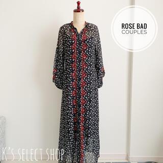 ROSE BUD - *美品*【ROSE BAD COUPLES】花柄 ワンピース シースルー