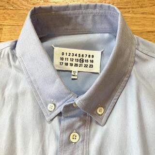 マルタンマルジェラ(Maison Martin Margiela)のマルジェラ14  ボタンダウン シャツ 水色 オックスフォード 新品 40(シャツ)