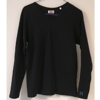 ハリウッドランチマーケット(HOLLYWOOD RANCH MARKET)のハリラン ストレッチフライス ロンT 黒(Tシャツ/カットソー(七分/長袖))