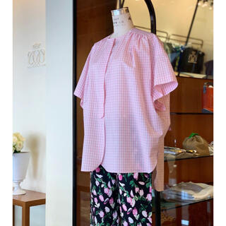 ドゥロワー(Drawer)の新品☆2021ssドゥロワー  チェックシャツ36(シャツ/ブラウス(半袖/袖なし))