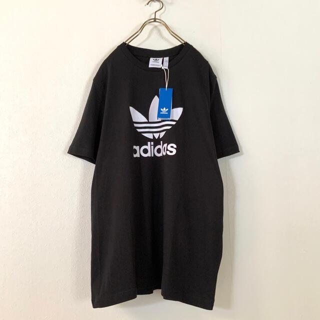 adidas(アディダス)の【新品 希少サイズ】adidas オーバーサイズ トレフォイル tシャツ BK メンズのトップス(Tシャツ/カットソー(半袖/袖なし))の商品写真