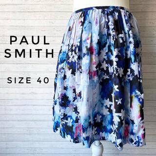 ポールスミス(Paul Smith)の【夏カラー】Paul smith ポールスミス ブラック 花柄 スカート(ひざ丈スカート)